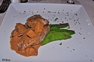 Pork Tenderloin with Apple Brandy Cream Sauce 2010 Koenig Vineyards Syrah