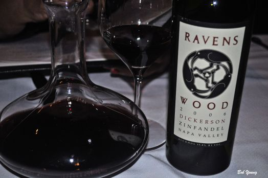 A Ravenswood wine at Bern's.
