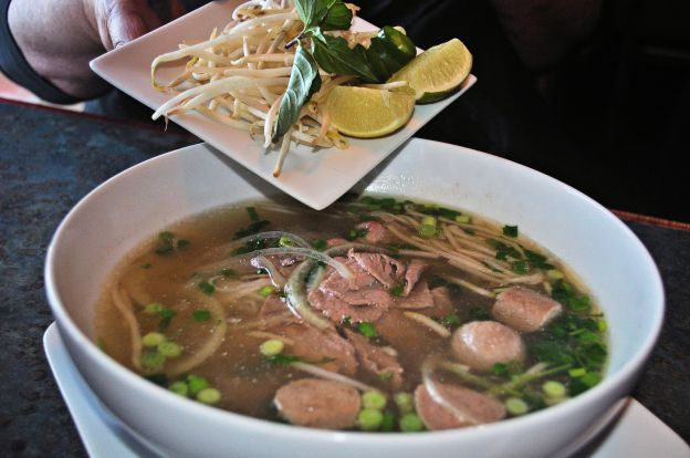 Pho, a beef broth based soup ............