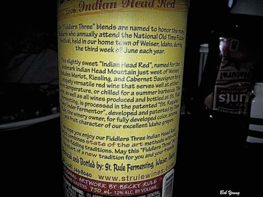 This is the back of the bottle. Good information. Left-Click this or any of these photos to see them enlarged.