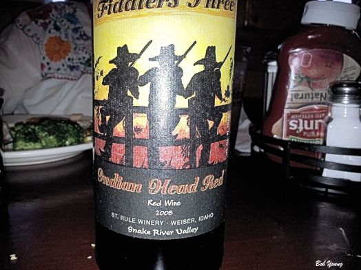 We had to check this bottle of wine out. It really is named for the Weiser Old Tyme Fiddlers Festival, which is just over for the year.