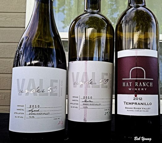 Some of the wines we tried. We also tried a Hat Ranch Merlot and Syrah.