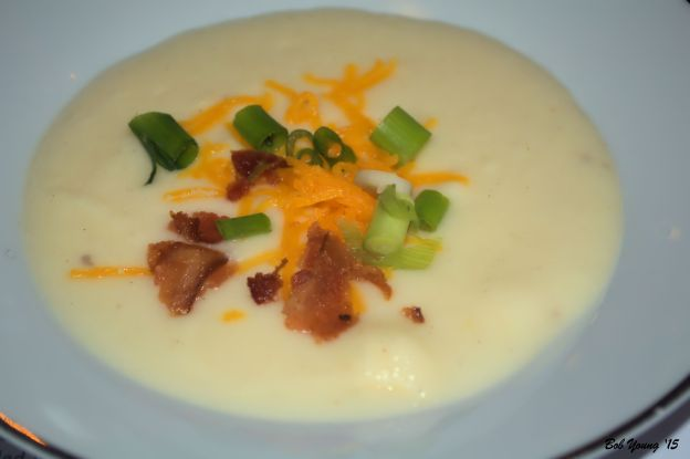 Grilled Potato Soup with Bacon Bits (This soup was awesome!) 2012 Luna Merlot 13.5% alc gopod Merlot that went very well with the soup. long lasting finish. [17] $17.00