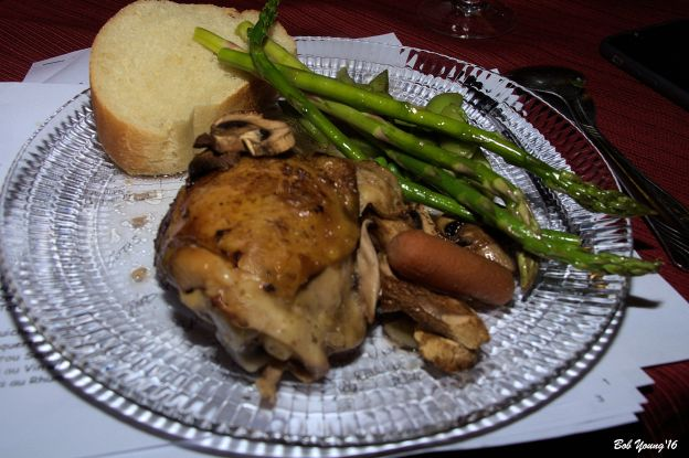 Coq au Vin with Barigoule 2014 Bila Haut Roussillion Blanc 13.0% alc. pretty good wine that pared well with the chicken.balance was off though [17]  $17.00