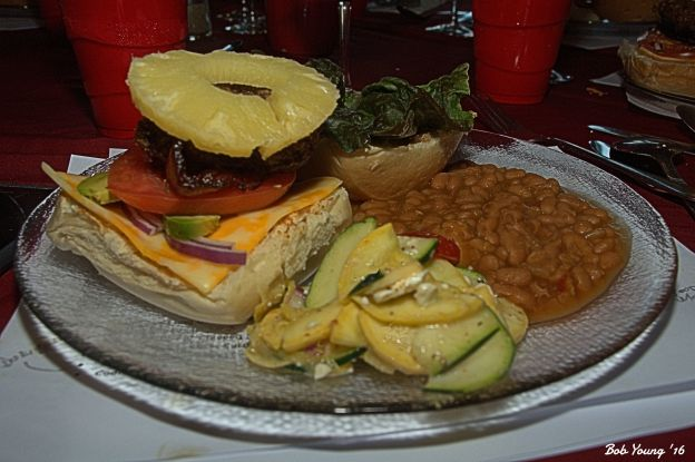 Teriyaki Pina Colada Burger Zuchini Salad Baked Beans 2014 Durigutti 14.0% alc  Super great paring. Loved it! [18] $17.00