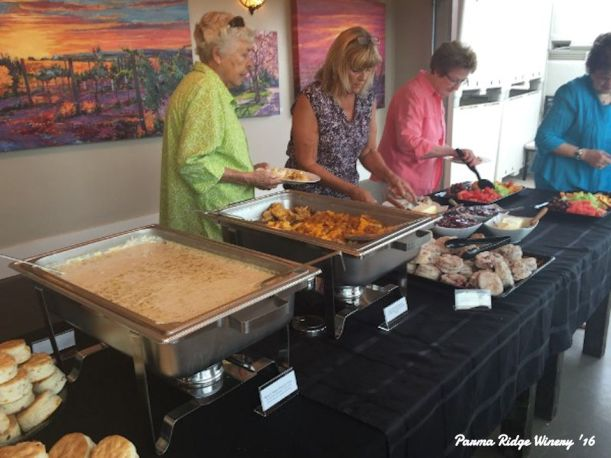 A brunch catering on Saturday morning at Parma Ridge